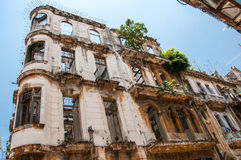 Old building destroyed by time, Havana Royalty Free Stock Photography