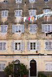 Old building detail Corfu town Royalty Free Stock Image