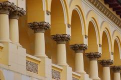Old building detail. View of romanian-orthodox abbey detail in Alba Iulia, Romania Stock Photos