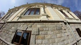 Old building in Dobrogea Romania stock footage