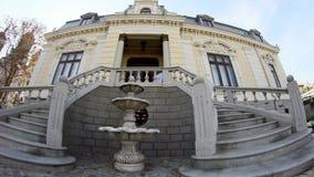 Old building in Dobrogea Romania stock video footage