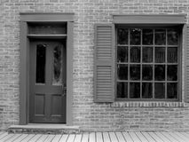 Old building with door and window Stock Photo