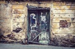 Old building doors in Vilnius city Stock Photo