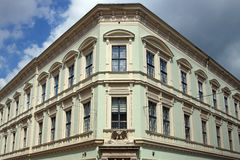 Old building Eger Hungary. Old building with eagle sculpture Eger Hungary Stock Image