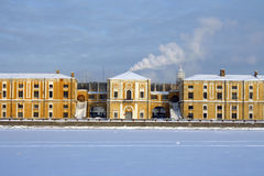 Old building on the embankment. In Saint Petersburg, Russia Royalty Free Stock Image