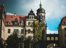 Old building in Europe. Dresden.Residence Castle. Elements of beautiful European building Stock Image
