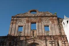 Old building facade in Casco Viejo in Panama City - historical a royalty free stock photos