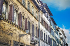 Old building facade in Florence Royalty Free Stock Photo