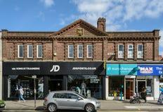 Old Building Facade on High Street in Kings Heath Birmingham Stock Photography