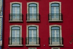 Old Building facade in Lisbon. Portugal Stock Photo