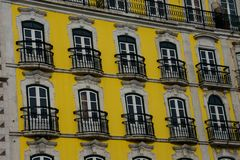 Old Building facade in Lisbon. Portugal Royalty Free Stock Photo