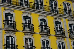 Old Building facade in Lisbon. Portugal Stock Photography