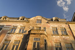 Old building facade with ornament Royalty Free Stock Photos