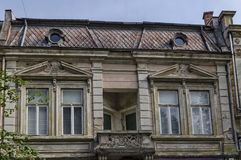 Old building facade with ornament in Ruse Stock Images