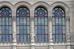 Old building facade with statues Budapest Royalty Free Stock Image