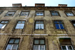 Old building. Facade with windows Stock Image
