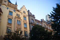 Old building facades Stock Image