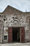 Old building factory and gate in retro style Royalty Free Stock Photography
