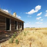 Old building in field. Royalty Free Stock Images
