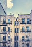 An old building with fire escape, New York City. Royalty Free Stock Photo