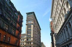 Old building with fire escape, NYC. Old building with fire escape, Manhattan, New York City, USA Stock Photography