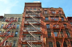 Old building with fire escape, NYC. Old building with fire escape, Manhattan, New York City, USA Stock Image