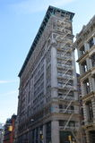 Old building with fire escape, NYC. Old building with fire escape, Manhattan, New York City, USA Stock Photo