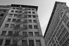 Old building with fire escape, NYC. Old building with fire escape, Manhattan, New York City, USA Royalty Free Stock Photography