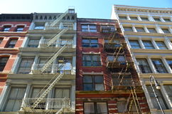 Old building with fire escape, NYC. Old building with fire escape, Manhattan, New York City, USA Stock Images