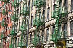 Old building with fire escape, NYC. Old building with fire escape, New York City, USA Stock Images