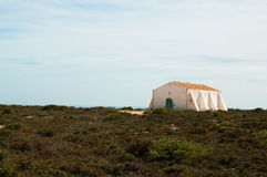 Old building at Fortaleza de Sagres in Portugal Stock Images