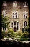Old building and gardens Royalty Free Stock Image