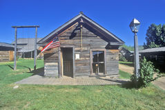 Old building in Ghost Town near Virginia City, MT stock photography