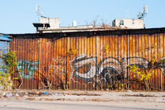 Old building graffiti Stock Photography