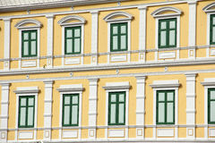 Old  building green color window design Royalty Free Stock Photography