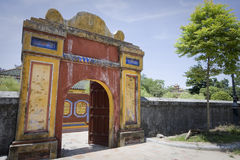 Old building in Hue in vietnam Stock Photography
