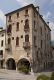 Old building in italian town. Of Vittorio Veneto Royalty Free Stock Photography