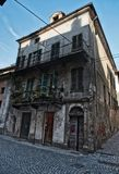 Old building in Ivrea. Stones old buildings. Italy Stock Photography