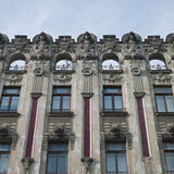 Old building in jugendstyle (Art Nouveau) in Riga, Latvia. Stock Photography