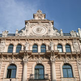 Old building in jugendstyle (Art Nouveau) in Riga, Latvia. Royalty Free Stock Photos