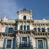 Old building in jugendstyle (Art Nouveau) in Riga, Latvia. Royalty Free Stock Images