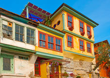 Old building in Kavala town in Greece Royalty Free Stock Images