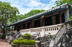 The Old building of koh wung palace Stock Photo