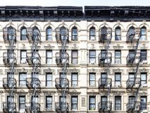 Old building in the Lower East Side of Manhattan, New York City Stock Image