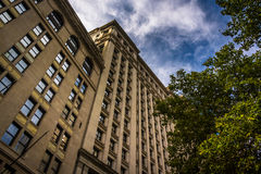 Old building in Lower Manhattan, New York. Stock Images