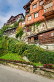 Old building on the main street in Hallstatt Royalty Free Stock Photo