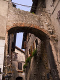 Old building at Malcesine on Lake Garda in Northern Italy Stock Image