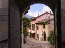 Old building at Malcesine on Lake Garda in Northern Italy Royalty Free Stock Photography