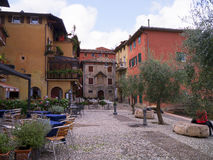 Old building at Malcesine on Lake Garda in Northern Italy Royalty Free Stock Image