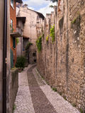 Old building at Malcesine on Lake Garda in Northern Italy Stock Photos